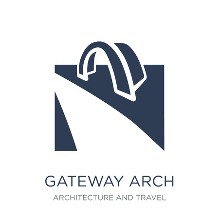 Gateway arch icon. Trendy flat vector Gateway arch icon on white background from Architecture and Travel collection, vector illustration can be use for web and mobile, eps10