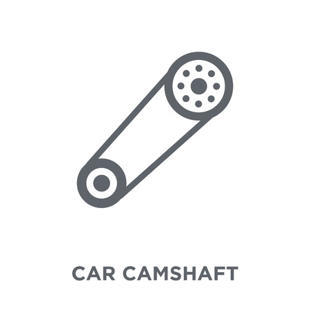 car camshaft icon. car camshaft design concept from Car parts collection. Simple element vector illustration on white background. Standard-Bild - 111975820