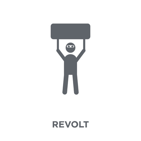 Revolt icon. Revolt design concept from Army collection. Simple element vector illustration on white background.