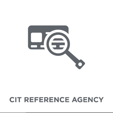 Credit reference agency icon. Credit reference agency design concept from Credit reference agency collection. Simple element vector illustration on white background.