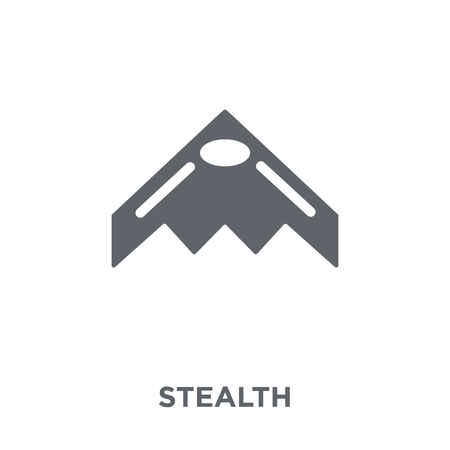 stealth icon. stealth design concept from Army collection. Simple element vector illustration on white background. Standard-Bild - 111975826