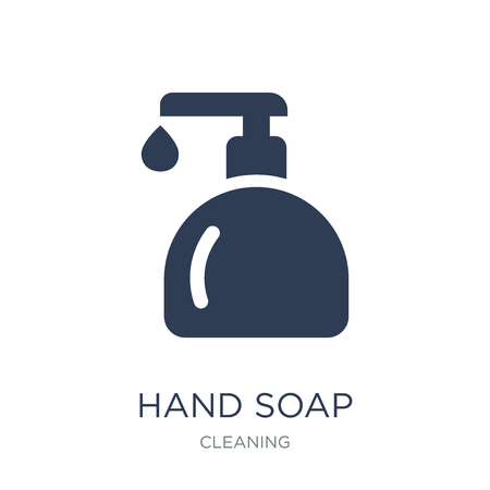Hand soap icon. Trendy flat vector Hand soap icon on white background from Cleaning collection, vector illustration can be use for web and mobile, eps10 Illustration