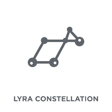 Lyra Constellation icon. Lyra Constellation design concept from Astronomy collection. Simple element vector illustration on white background. Ilustrace