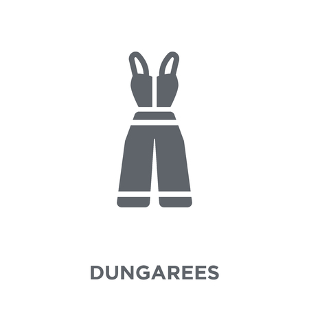 Dungarees icon. Dungarees design concept from Dungarees collection. Simple element vector illustration on white background. 版權商用圖片 - 111920596