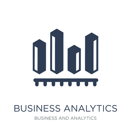Business analytics graphics icon. Trendy flat vector Business analytics graphics icon on white background from Business and analytics collection, vector illustration can be use for web and mobile, eps10