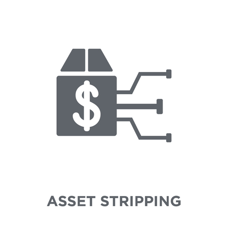 Asset stripping icon. Asset stripping design concept from Asset stripping collection. Simple element vector illustration on white background. Ilustração