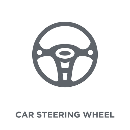 car steering wheel icon. car steering wheel design concept from  collection. Simple element vector illustration on white background. Фото со стока - 111975901