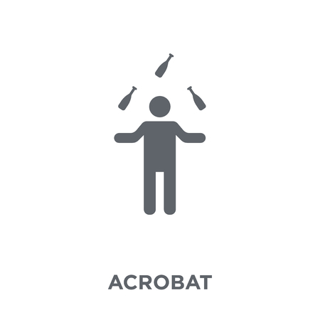 Acrobat icon. Acrobat design concept from Circus collection. Simple element vector illustration on white background.