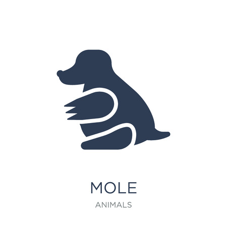 Mole icon. Trendy flat vector Mole icon on white background from animals collection, vector illustration can be use for web and mobile, eps10