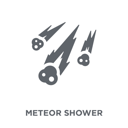 Meteor shower icon. Meteor shower design concept from Astronomy collection. Simple element vector illustration on white background.