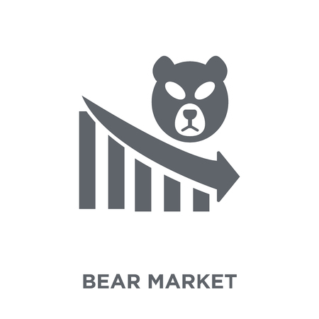 Bear market icon. Bear market design concept from Bear market collection. Simple element vector illustration on white background. Ilustrace