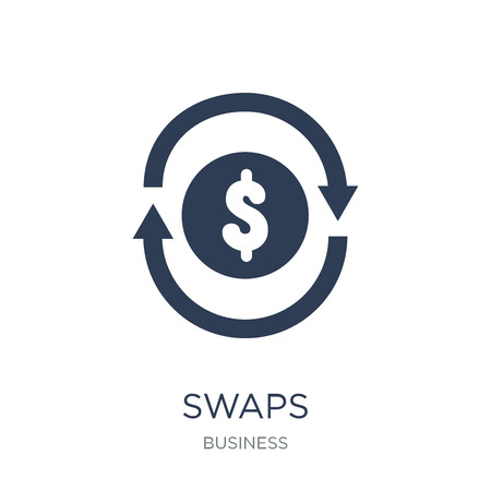 Swaps icon. Trendy flat vector Swaps icon on white background from business collection, vector illustration can be use for web and mobile, eps10