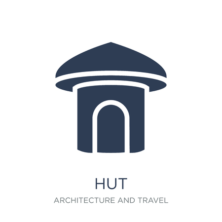 Hut icon. Trendy flat vector Hut icon on white background from Architecture and Travel collection, vector illustration can be use for web and mobile, eps10