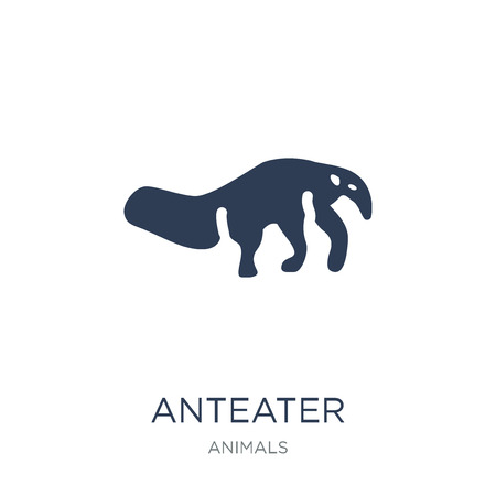 Anteater icon. Trendy flat vector Anteater icon on white background from animals collection, vector illustration can be use for web and mobile, eps10 Ilustração