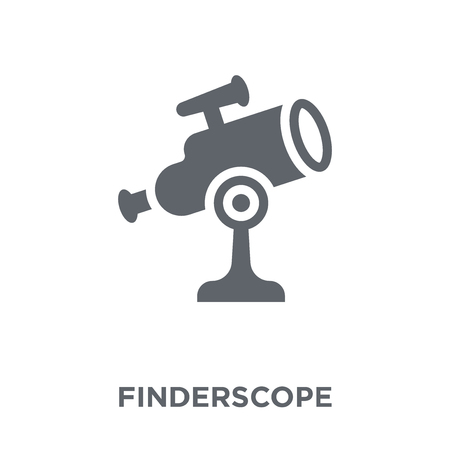Finderscope icon. Finderscope design concept from Astronomy collection. Simple element vector illustration on white background. 向量圖像