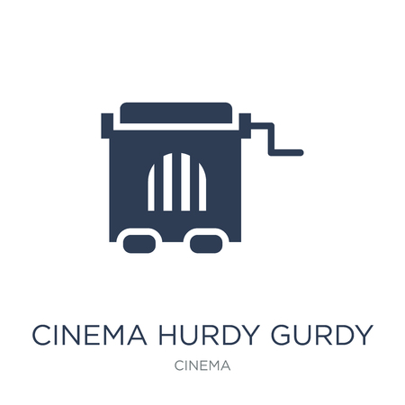 cinema hurdy gurdy icon. Trendy flat vector cinema hurdy gurdy icon on white background from Cinema collection, vector illustration can be use for web and mobile, eps10