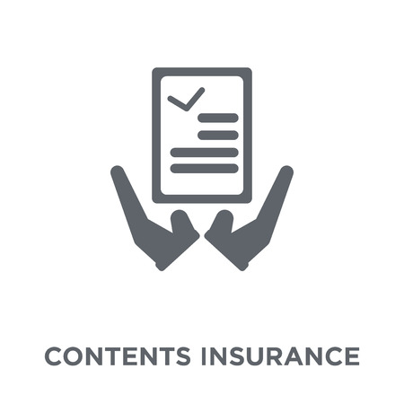 Contents insurance icon. Contents insurance design concept from Contents insurance collection. Simple element vector illustration on white background. Illustration