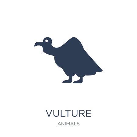 Icono de buitre. Icono de buitre de moda vector plano sobre fondo blanco de colección de animales, Ilustración de vectores se puede utilizar para web y móvil, eps10