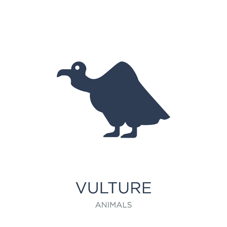 Vulture icon. Trendy flat vector Vulture icon on white background from animals collection, vector illustration can be use for web and mobile, eps10 Фото со стока - 111975917