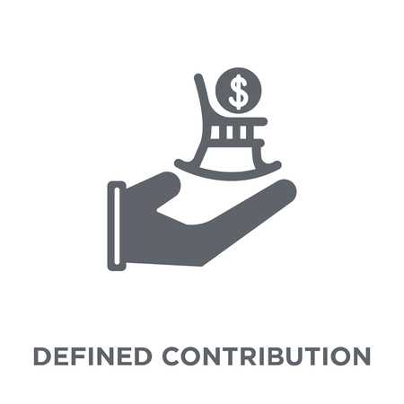 Defined contribution pension design concept from Defined contribution pension collection. Simple element vector illustration on white background.