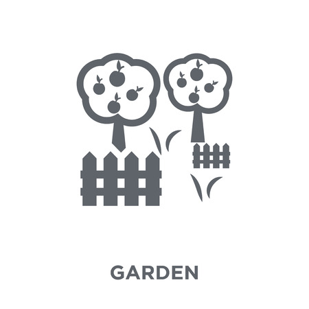 Garden icon. Garden design concept from Agriculture, Farming and Gardening collection. Simple element vector illustration on white background. Stock Vector - 111975940