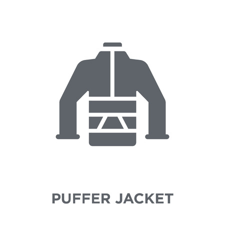 puffer jacket icon. puffer jacket design concept from Puffer jacket collection. Simple element vector illustration on white background.