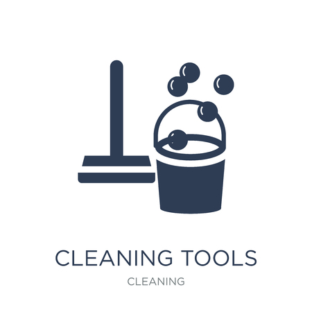 Cleaning tools icon. Trendy flat vector Cleaning tools icon on white background from Cleaning collection, vector illustration can be use for web and mobile, eps10