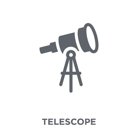 Icono de telescopio. Concepto de diseño de telescopio de colección de Astronomía. Ilustración de vector de elemento simple sobre fondo blanco. Ilustración de vector