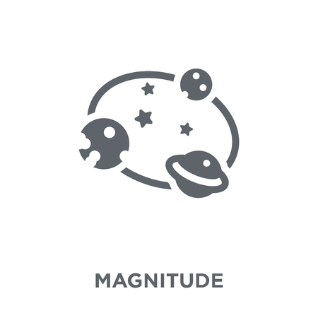 Magnitude icon. Magnitude design concept from Astronomy collection. Simple element vector illustration on white background. Stock Illustratie