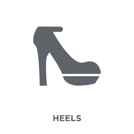 Heels icon. Heels design concept from Clothes collection. Simple element vector illustration on white background.