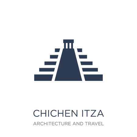 Chichen Itza icon. Trendy flat vector Chichen Itza icon on white background from Architecture and Travel collection, vector illustration can be use for web and mobile, eps10
