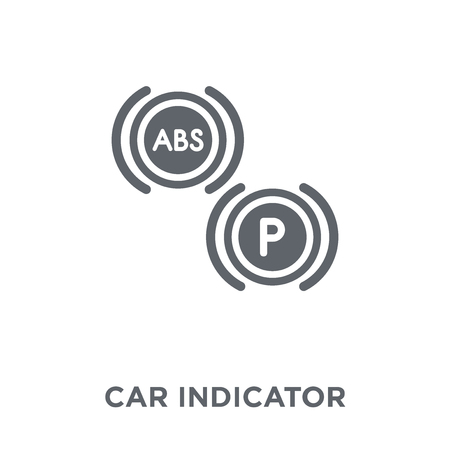 car indicator icon. car indicator design concept from Car parts collection. Simple element vector illustration on white background.