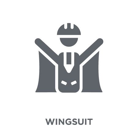 Wingsuit icon. Wingsuit design concept from Camping collection. Simple element vector illustration on white background.  イラスト・ベクター素材