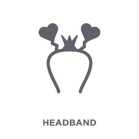 Headband icon. Headband design concept from Birthday and Party collection. Simple element vector illustration on white background.
