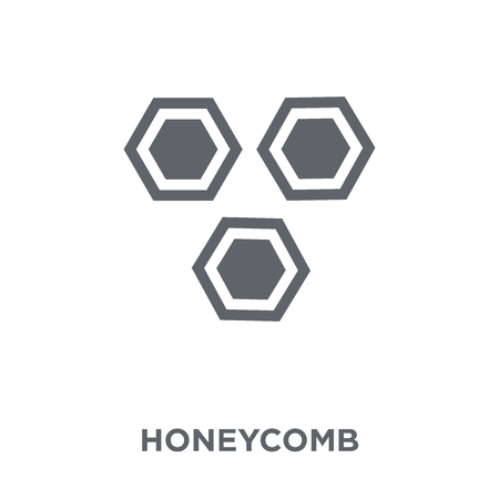 Honeycomb icon. Honeycomb design concept from Agriculture, Farming and Gardening collection. Simple element vector illustration on white background.