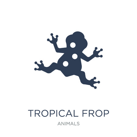 Tropical Frop icon. Trendy flat vector Tropical Frop icon on white background from animals collection, vector illustration can be use for web and mobile, eps10 Stock Vector - 111976220