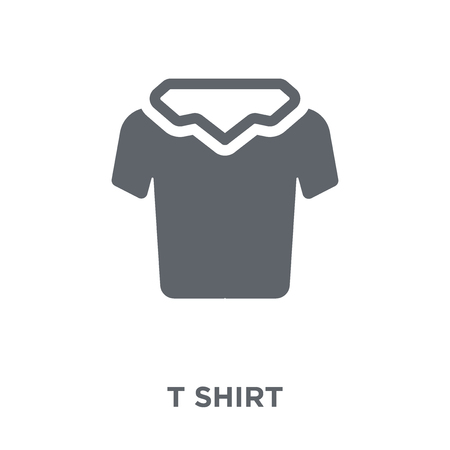 T shirt icon. T shirt design concept from Clothes collection. Simple element vector illustration on white background. 일러스트