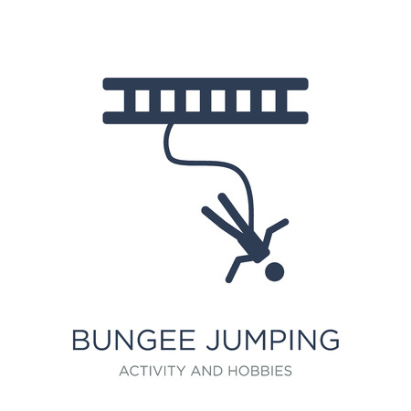Bungee jumping icon. Trendy flat vector Bungee jumping icon on white background from Activity and Hobbies collection, vector illustration can be use for web and mobile, eps10