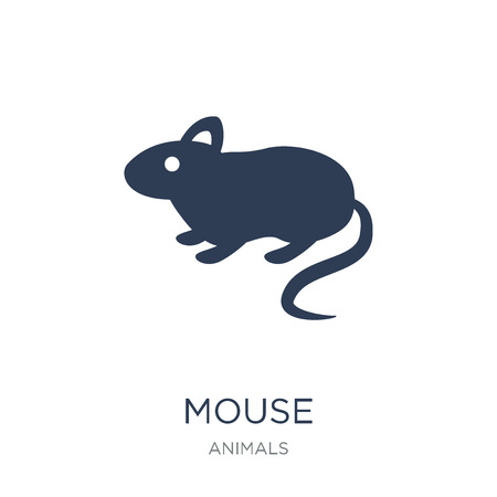 Mouse icon. Trendy flat vector Mouse icon on white background from animals collection, vector illustration can be use for web and mobile, eps10 Illustration