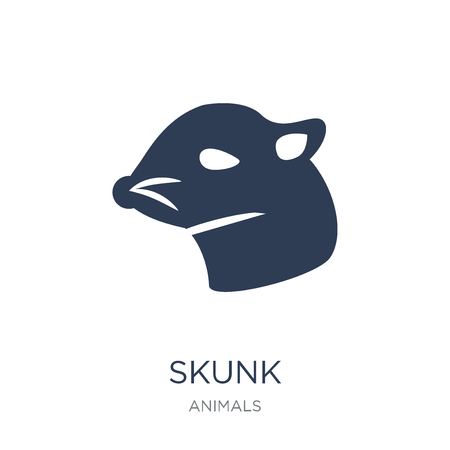 skunk icon. Trendy flat vector skunk icon on white background from animals collection, vector illustration can be use for web and mobile, eps10