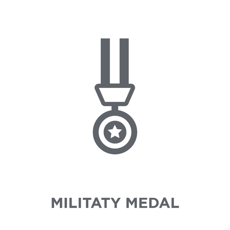 Militaty Medal icon. Militaty Medal design concept from Army collection. Simple element vector illustration on white background. 向量圖像