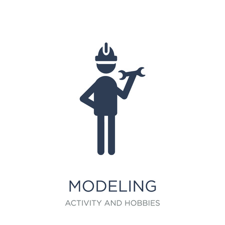 Modeling icon. Trendy flat vector Modeling icon on white background from Activity and Hobbies collection, vector illustration can be use for web and mobile, eps10 Standard-Bild - 111999410