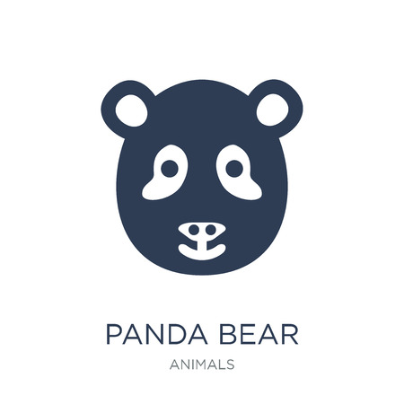 Panda bear icon. Trendy flat vector Panda bear icon on white background from animals collection, vector illustration can be use for web and mobile, eps10