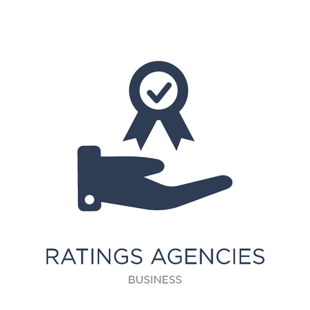 Ratings agencies icon. Trendy flat vector Ratings agencies icon on white background from business collection, vector illustration can be use for web and mobile, eps10