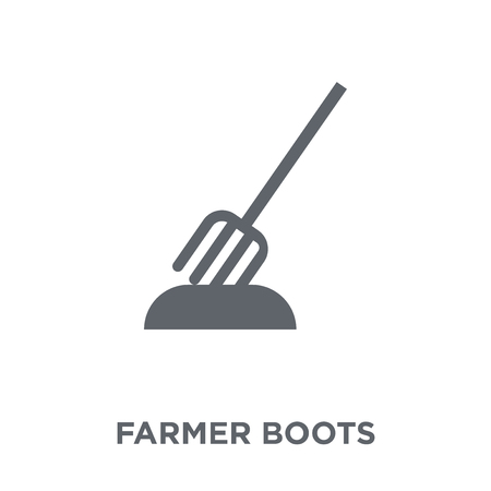farmer Boots icon. farmer Boots design concept from Agriculture, Farming and Gardening collection. Simple element vector illustration on white background.