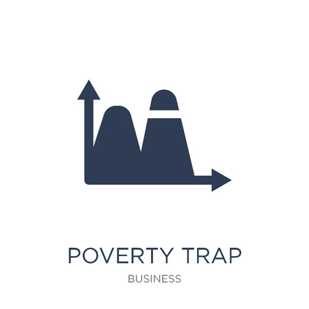 Poverty trap icon. Trendy flat vector Poverty trap icon on white background from business collection, vector illustration can be use for web and mobile, eps10