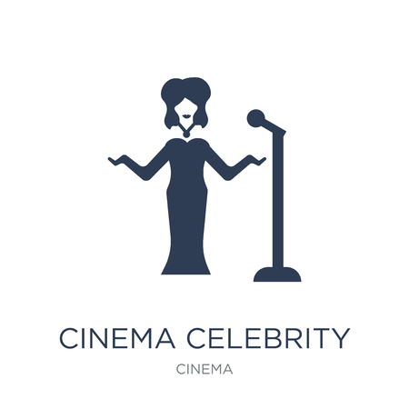 cinema celebrity icon. Trendy flat vector cinema celebrity icon on white background from Cinema collection, vector illustration can be use for web and mobile, eps10 Stock Vector - 111976256