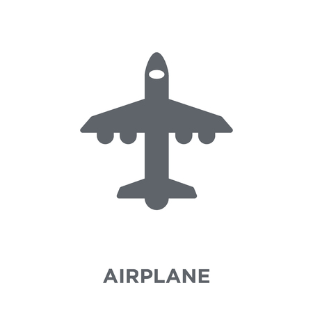 Airplane icon. Airplane design concept from Army collection. Simple element vector illustration on white background.