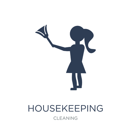 Housekeeping icon. Trendy flat vector Housekeeping icon on white background from Cleaning collection, vector illustration can be use for web and mobile, eps10