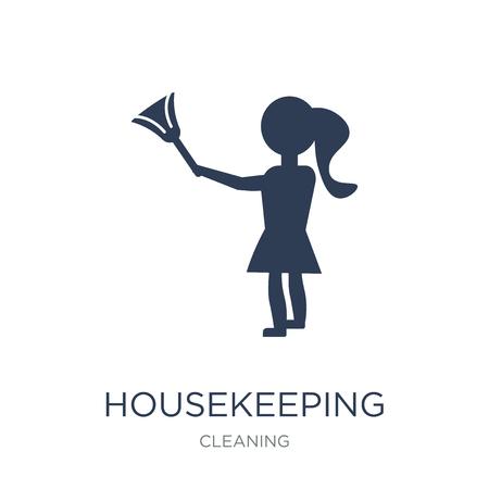 Icône de ménage. Icône de ménage vecteur plat sur fond blanc de la collection de nettoyage, illustration vectorielle peut être utilisé pour le web et mobile, eps10